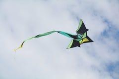 黑和绿色风筝 免版税图库摄影