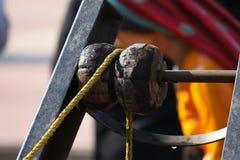 绳索和滑轮 免版税库存图片