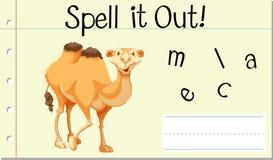 咒语英国词骆驼 向量例证