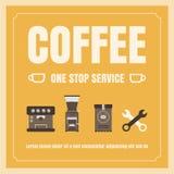 咖啡一项中止服务 免版税库存照片