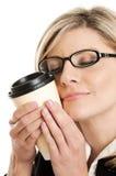 咖啡上瘾者 免版税库存图片