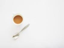 咖啡与匙子的, 库存图片