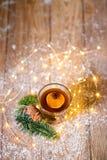 咖啡与奶油色圣诞节的 免版税库存照片
