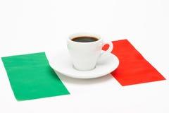 咖啡与旗子的 免版税库存图片