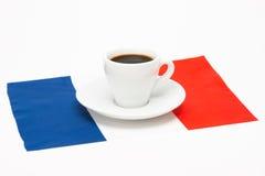 咖啡与旗子的 免版税图库摄影