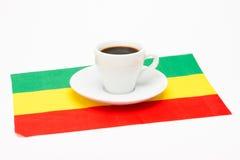 咖啡与旗子的 免版税库存照片