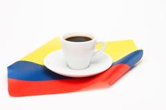 咖啡与旗子的 库存照片