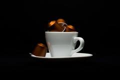 咖啡与胶囊的 免版税图库摄影