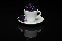 咖啡与胶囊的 免版税库存图片