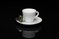 咖啡与胶囊的 图库摄影