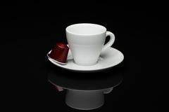咖啡与胶囊的 免版税库存照片