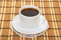咖啡与茶碟的 图库摄影