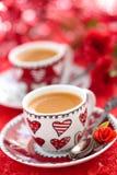 咖啡为Valentine's天 免版税图库摄影