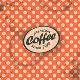咖啡主题的减速火箭的背景 库存图片