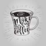 咖啡乱画 图库摄影