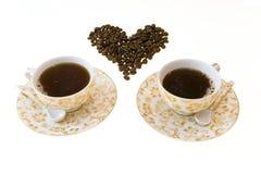 咖啡二 库存图片