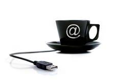 咖啡互联网 库存图片