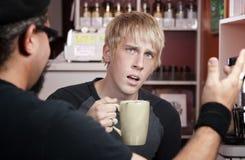 咖啡交谈房子 库存图片
