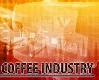 咖啡产业摘要概念数字式例证 库存图片