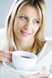 咖啡享用 免版税库存照片
