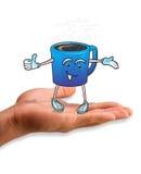 咖啡人 免版税库存图片