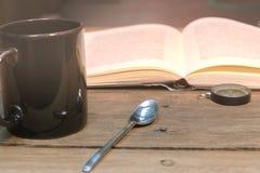 咖啡休息和放松时间 免版税库存图片