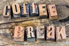 咖啡休息弛豫时间标志 库存照片