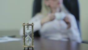 咖啡休息概念的时刻 股票录像