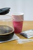 咖啡休息特写镜头 免版税库存图片