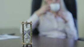 咖啡休息的时刻 股票视频