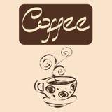 咖啡传染媒介设计 免版税库存图片
