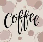 咖啡传染媒介Handlettering 皇族释放例证