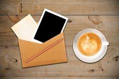 咖啡信包照片 库存图片