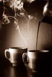 咖啡倾吐 图库摄影