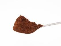 咖啡充分的匙子茶 免版税库存图片