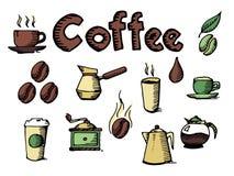 咖啡具传染媒介 库存照片