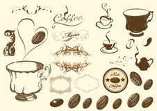 咖啡具向量 免版税库存图片
