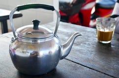 咖啡具泰国样式 免版税库存照片