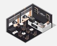 咖啡内部界面 免版税库存照片