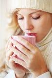 咖啡冬天 库存照片