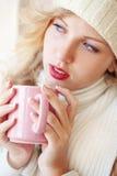 咖啡冬天 免版税库存图片
