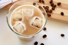 咖啡冰了latte 库存照片