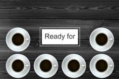 咖啡准备好 免版税库存图片