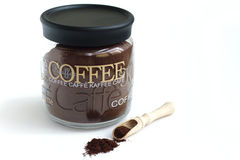 咖啡分配器瓶子 库存照片