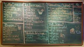 咖啡前菜单 免版税库存照片