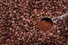 咖啡匙。 免版税库存图片