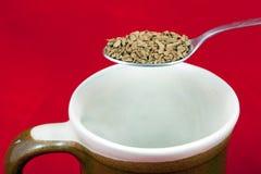 咖啡即时 免版税库存图片