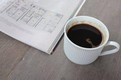 咖啡和书 库存图片
