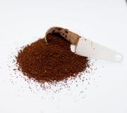 咖啡和匙子 免版税库存照片