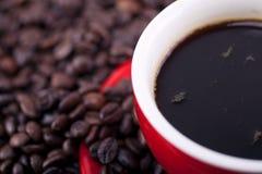 咖啡和咖啡豆 免版税图库摄影